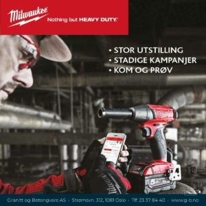 Kom og prøv Milwaukee verktøy hos oss!